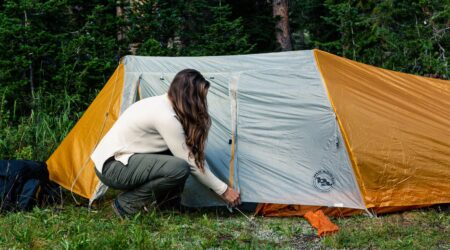 pitching-tent